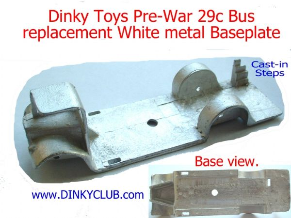 Dinky Toys 29C Pre-War Bus Baseplate (Each)